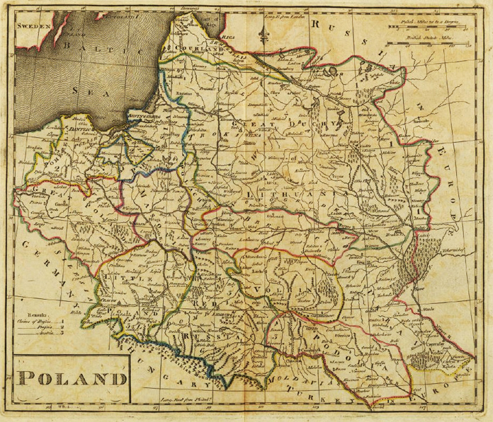 Map of Poland XVIII Century